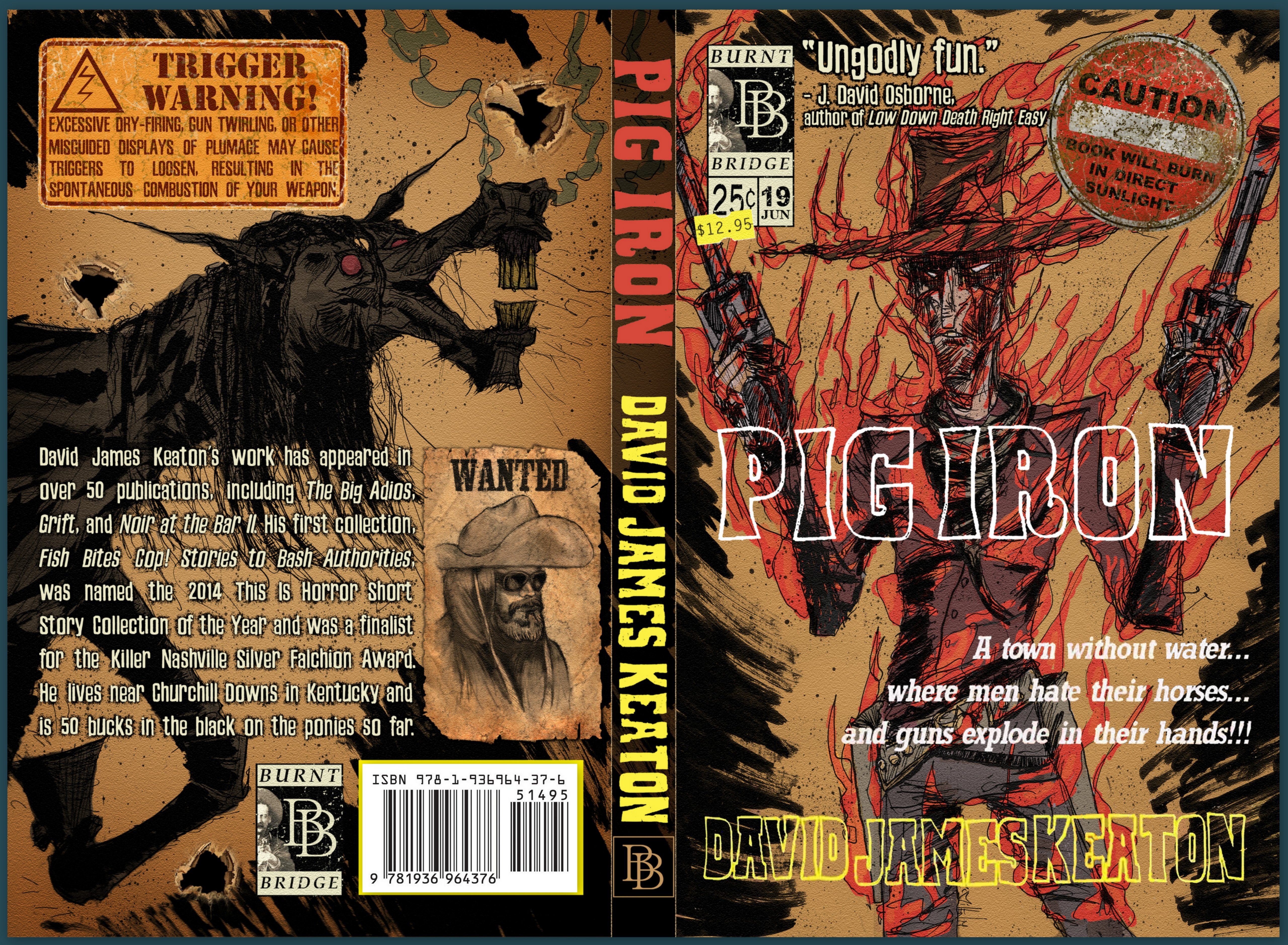 pig iron - sticker and bullet hole edition